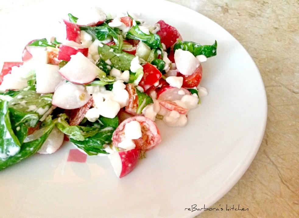 Ředkvičkový salát s cottage | reBarbora's kitchen