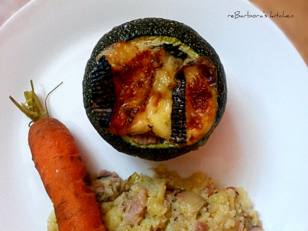 Plněná kulatá cuketa | reBarbora's kitchen