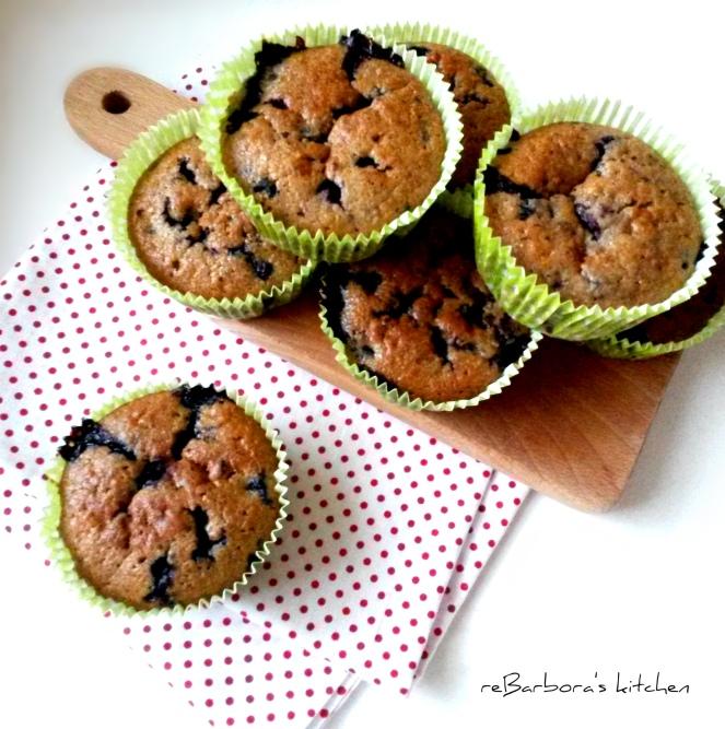 Borůvkové muffiny | reBarbora's kitchen