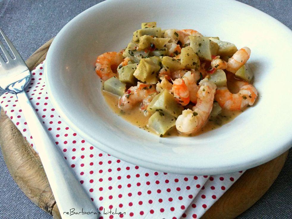 Artyčok s krevetami | reBarbora's kitchen