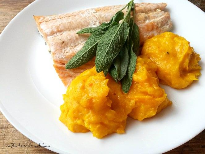 Losos na šalvěji s dýňovým pyré | reBarbora's kitchen