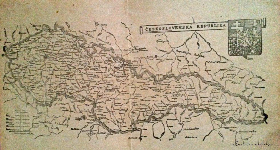 mapa Československo | reBarbora's kitchen