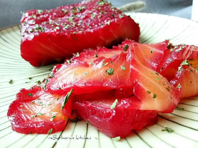 Gravlax s červenou řepou | reBarbora's kitchen