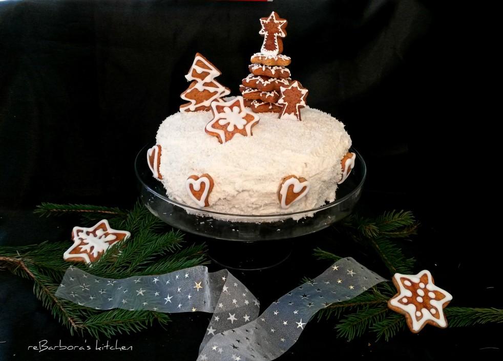 Vánoční dort - Kokosovo-perníčkový | reBarbora's kitchen