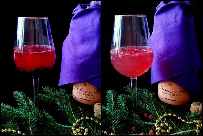 Šampaňské koktejly - Sekt s granátovým jablkem a sekt s lesním ovocem a levandulí | reBarbora's kitchen