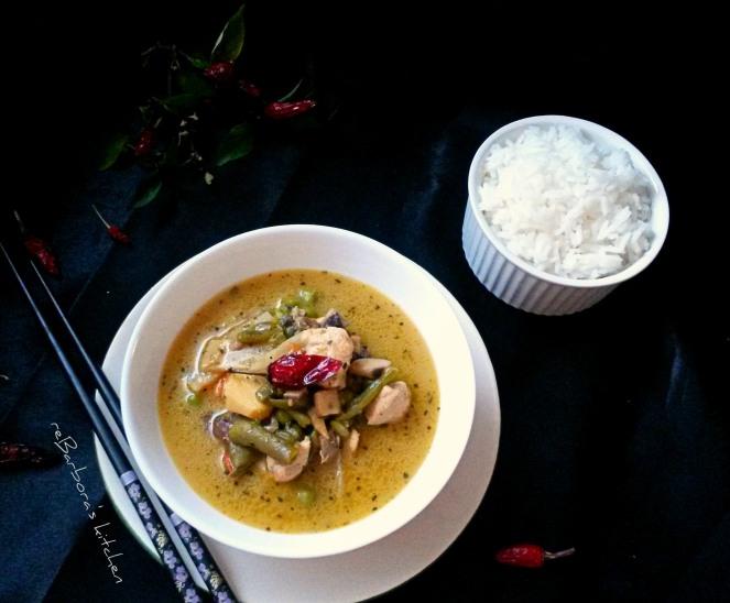 Thajské zelené kuřecí kari | reBarbora's kitchen