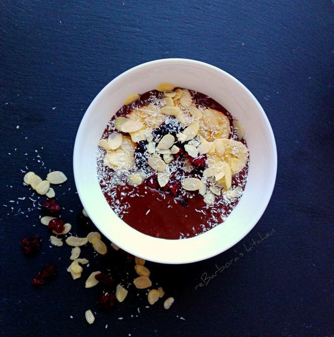 Čokoládovo-banánová Smoothie bowl | reBarbora's kitchen