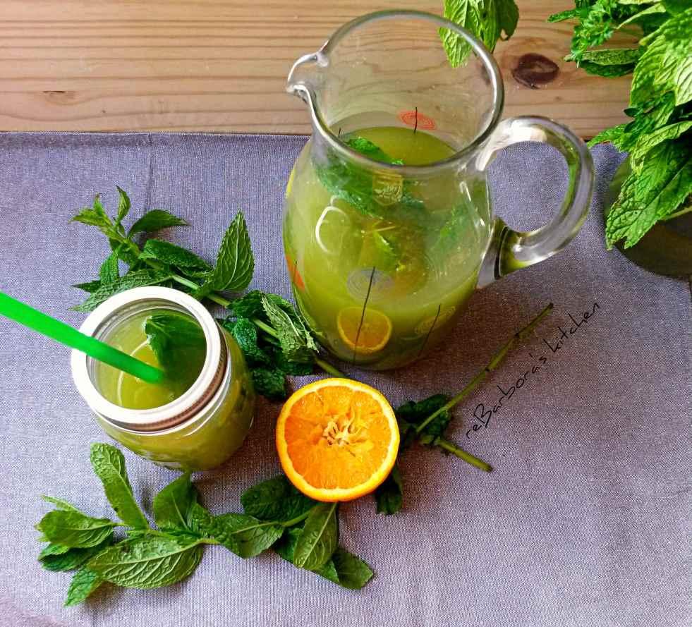 Matcha drink s pomerančem a meduňkou | reBarbora's kitchen