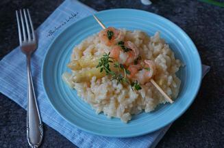 Chřestové risotto a krevety na másle s citronovým tymiánem | reBarbora's kitchen