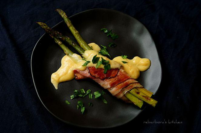 Chřest ve slanině s holandskou omáčkou | reBarbora's kitchen