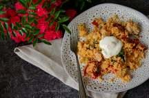 Kuskus salát s krůtím prsíčkem, rajčaty a špenátem | reBarbora's kitchen