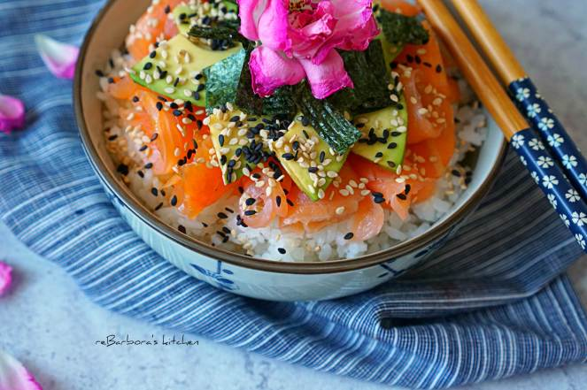 Chirachi sushi/sushi bowl | reBarbora's kitchen