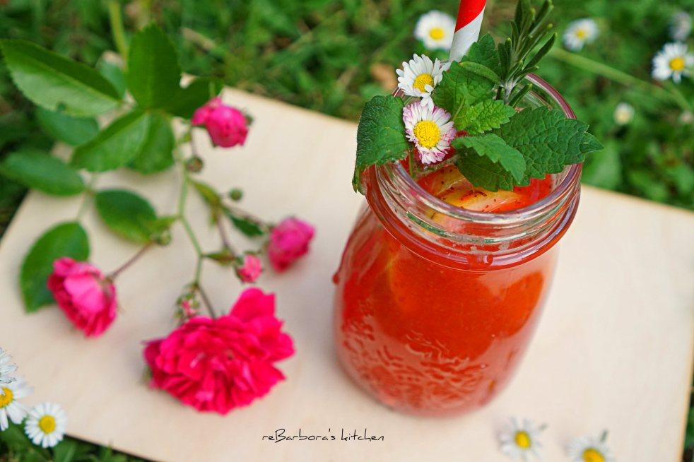 Jahodová limonáda s rozmarýnem | reBarbora's kitchen