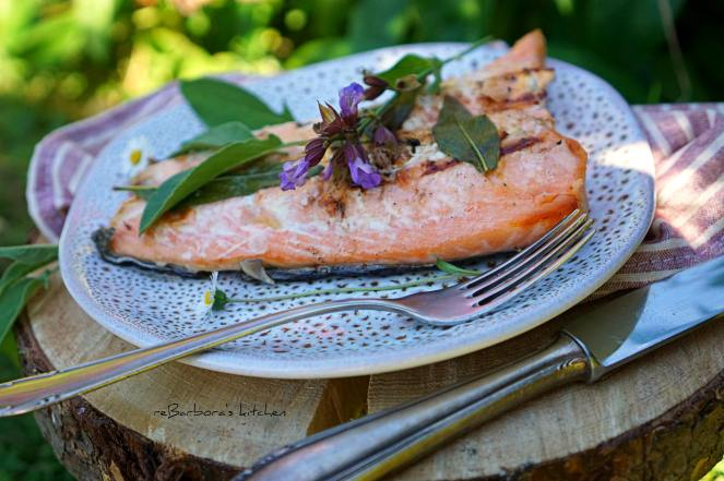 Losos na grilu s šalvějovým máslem | reBarbora's kitchen