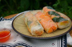 Letní závitky s kuřecím prsíčkem nebo krevetami | reBarbora's kitchen