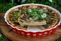 Houbový quiche - slaný koláč | reBarbora's kitchen