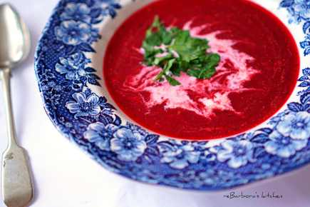Krémová polévka z červené řepy | reBarbora's kitchen