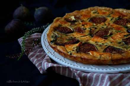 Quiche s fíky, slaninou a špenátem | reBarbora's kitchen