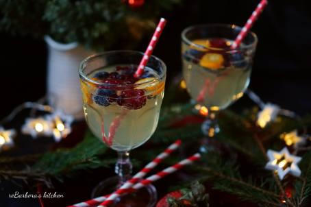 Bílá sangria do skleničky (alko i nealko) | reBarbora's kitchen