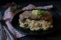 Risotto s houbami a rib eye steak s bylinkovým máslem | reBarbora's kitchen