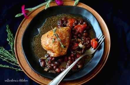 Medové kuřecí kousky na fazolích | reBarbora's kitchen