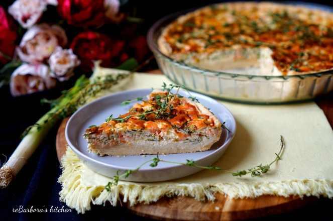 Quiche s uzeným lososem | reBarbora's kitchen