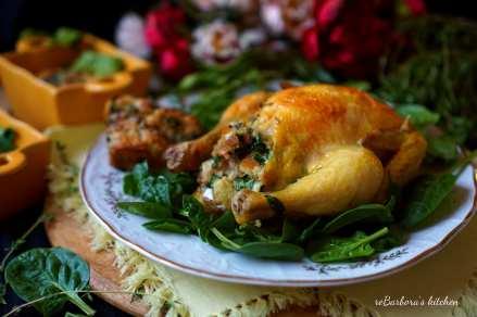 Francouzské mini kuře se špenátovou nádivkou | reBarbora's kitchen