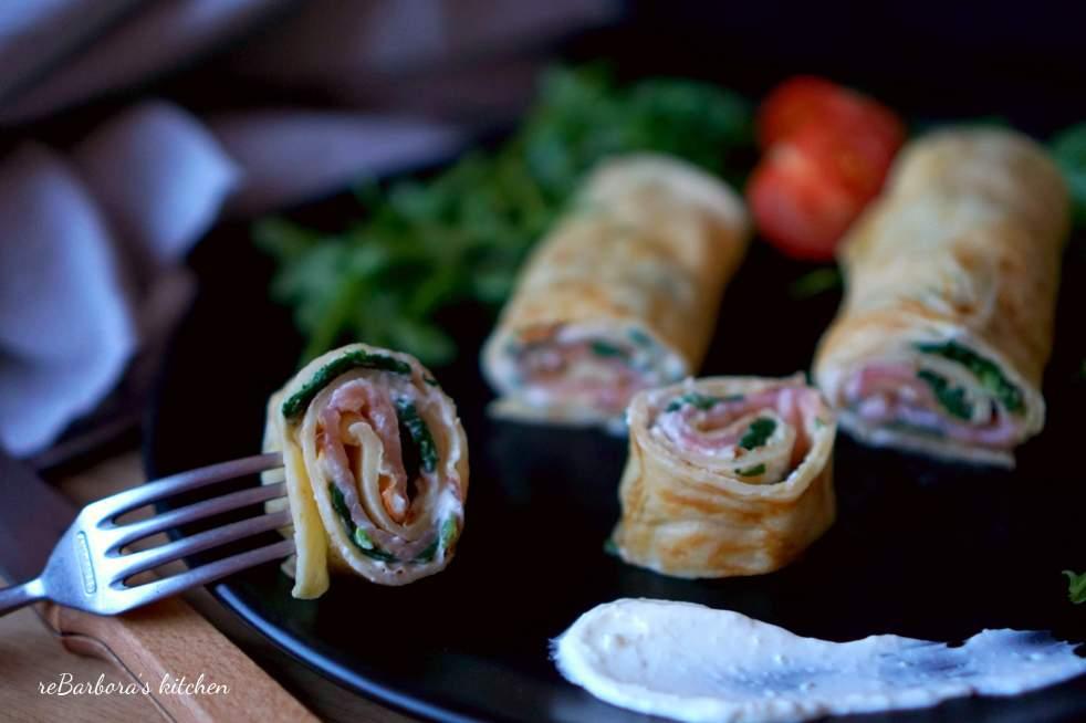 Palačinky s uzeným lososem a špenátem | reBarbora's kitchen