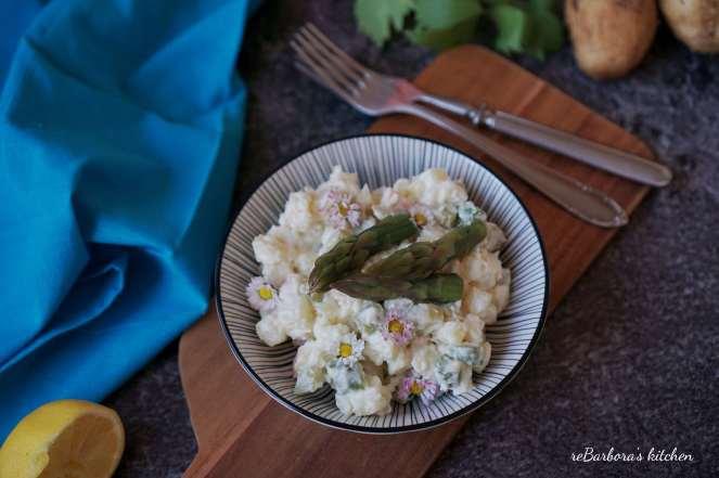 Bramborový salát s chřestem a krevetami | reBarbora's kitchen