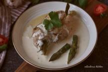 Kuřecí závitky s chřestem a gorgonzolovou omáčkou | reBarbora's kitchen