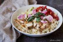 Chicken bowl / Miska s kuřetem, bulgurem a zeleninou | reBarbora's kitchen