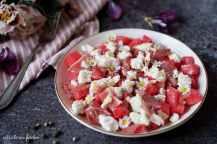 Melounový salát se sýrem a medovou zálivkou | reBarbora's kitchen