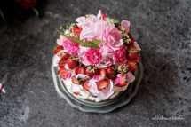 Mandlový dort se smetanovým krémem a jahodami | reBarbora's kitchen