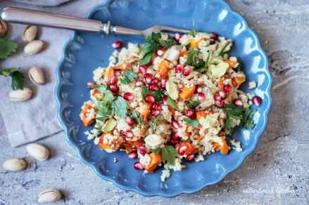 Podzimní salát z bulguru s dýní   reBarbora's kitchen