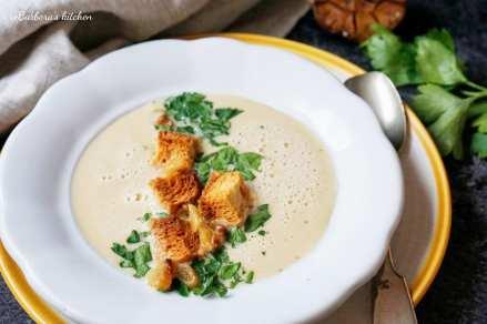 Krémová polévka z pečeného česneku | reBarbora's kitchen